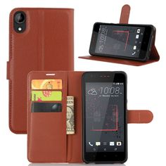 Vintage Phone Case For HTC D825 Luxury Flip PU Leather Case For HTC desire 825 Magnet Stand Wallet Cover With Card Holder