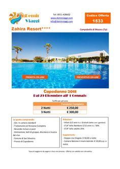 Zahira Resort - Campobello di Mazara (Tp) #Capodanno 2018 Per info e preventivi tel 0921428602 Email: info@demirviaggi.com Web: www.demirviaggi.com #Sicilia #Viaggi #LastMinute #Offerte