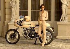 Keira Knightley Ducati 750 Super Sport Chanel