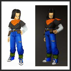 Dragon Ball Z - Android 17 HD Free Papercraft Download - http://www.papercraftsquare.com/dragon-ball-z-android-17-hd-free-papercraft-download.html