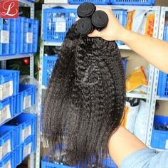 Kinky Straight Hair Brazilian Hair Weave Bundles Deal One Piece Natural Color Coarse Yaki Human Raw Virgin Hair Extension Prosa Best Human Hair Extensions, Virgin Hair Extensions, Kinky Straight Hair, Yaki Hair, Straight Weave Hairstyles, Hair Weft, Hair Weaves, Honey Hair, Brazilian Hair Weave