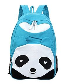 1dc554bab4 Micom 2015 New Lightweight Canvas Panda Design Cute Backpack  School Bag   Travel Daypack for Teen Girls