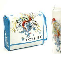Bag for tøjfirmaet ICHI/ Udarbejdet af grafisk designer Anne Mark Møller / Designbureauet Anetmai