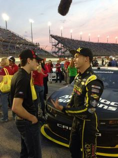 Dylan Kwasniewsk and Ryan Blaney talking about the track #TooToughToTame