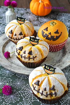 ハッピーハロウィン  小分けにできるかわいいお菓子とパンのレシピ集めました Halloween Sweets, Japanese Pastries, Japanese Food, Bread Art, Yummy Treats, Yummy Food, Cute Food, Confectionery, Lunches