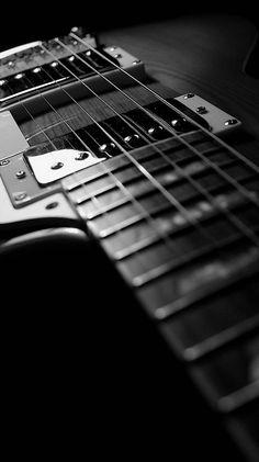 モノクロのギター モノクロの壁紙画像