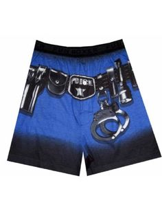 Police Duty Belt Boxers for men... Oh I want these!!!  Lol