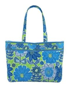 19bccb61a8 Vera Bradley East West Tote in Doodle Daisy -- Continue to the product at  the