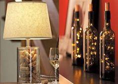 luminaria de garrafa de vidro - Pesquisa Google