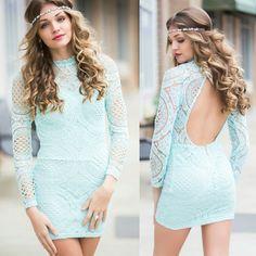 Mint lace dress #swoonboutique