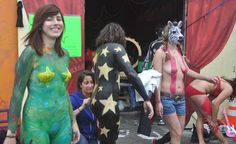 Fremont Solstice Parade, Paint Party, Body Painting, Cycling, People, Style, Fashion, Bodypainting, Swag