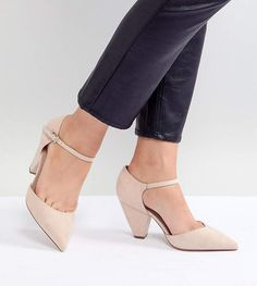 c86e23000 Asos DESIGN Speaker Extra Wide Fit Pointed Heels Zapatos Hermosos