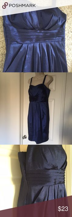 Blue Cocktail Dress Size 8 Sleeveless Dress Barn Beautiful shimmery royal blue dress perfect for any holiday party. Dress Barn Dresses Midi