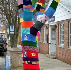 guerrilla knitting!