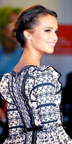 Alicia Vikander attends the The Danish Girl' Premiere at 72nd Venice Film Festival.