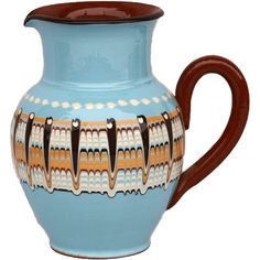 1 Qt. Baby Blue Pottery Pitcher - Baby Blue