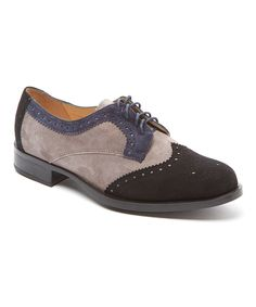 Another great find on #zulily! Amalfi Stone & Black Banda Suede & Leather Oxford by Amalfi #zulilyfinds