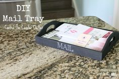 DIY Painted Mail Tray to organize clutter | Meet the B's