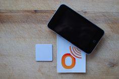 Mifare Classic PVC NFC tag (Square 35mm, €1.59)