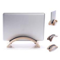 Samdi Arc Shaped Wood Laptop Stand Dock Holder for Apple Laptop MacBook Air Pro #UnbrandedGeneric
