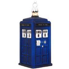 Doctor Who Tardis Glass Ornament