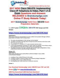 2019-Jan-New]Braindump2go 400-201 Dumps VCE Free Share(Q213