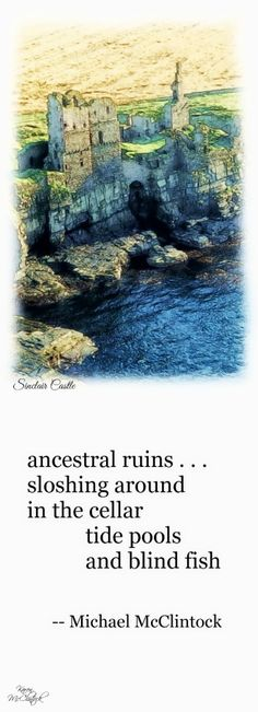 Tanka poem: ancestral ruins  by Michael McClintock.