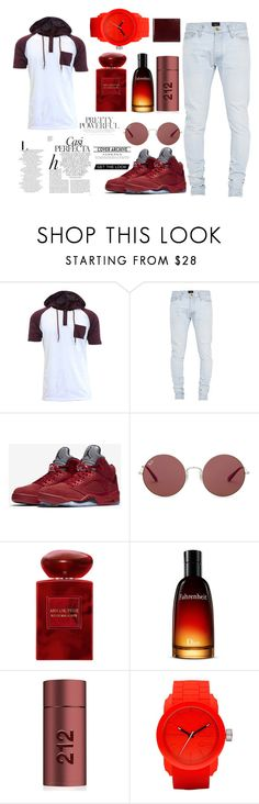 """1# Set"" by davechenui ❤ liked on Polyvore featuring Fear of God, NIKE, Ray-Ban, Armani Beauty, Christian Dior, Carolina Herrera, Diesel, Gucci, Whiteley and men's fashion"