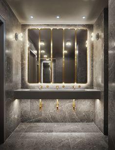 Sans afféteries mais piqué de belles fantaisies, cet hôtel conçu par une équipe nordique s'envisage comme un pont esthétique entre Copenhague et Manhattan. La salle-de-bain du 11 Howard à New York.