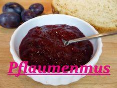Pflaumenmus ohne Zucker - Rezept von Lila Kuchen Pudding, Desserts, Food, Youtube, Plum Jam Recipes, Sandwich Spread, Purple Cakes, No Sugar, Food Portions