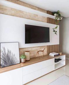 76 amazing tv wall design ideas for living room decor 64 Cozy Living Rooms, Living Room Modern, Home Living Room, Living Room Decor, Tv Stand Modern Design, Tv Stand Designs, Tv Wall Design, House Design, Booth Design