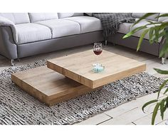Massief houten salontafel Florentina, draaibaar, B 76 tot 114 cm Coffe Table, Coffee Table Design, Home Living Room, Living Room Designs, Wooden Shoe Storage, Table Cafe, Teak Furniture, Wooden Projects, Center Table