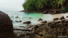 Stock Footage of An early morning timelapse at sunrise of a tropical beach with turquoise water, white sand and granite rocks, waves crashing, Mahé, Seychelles. Explore similar videos at Adobe Stock Turquoise Water, Seychelles, Early Morning, Stock Video, High Quality Images, Stock Footage, Granite, Adobe, Sunrise