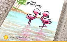Wading Flamingos – and crafty enamel pins! | Sandy Allnock