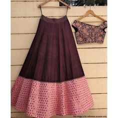 Wine Color Banglori Silk Thread Work Lehenga Choli Embroidery Work, Wedding, Festival, Ceremonial, B Choli Designs, Lehenga Designs, Blouse Designs, Indian Attire, Indian Wear, Indian Outfits, Lehnga Dress, Lehenga Blouse, Lehenga Crop Top