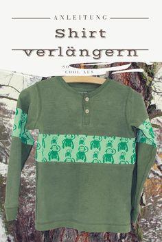 Die Shirts sollen den Kindern länger passen? Mit dieser Anleitung geht das Vergrößern easy. Shirt verlängern, Anleitung