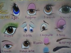 Resultado de imagem para yana dolls eyes AND how OR tutorial OR painting OR copy One Stroke Painting, Painting For Kids, Fabric Painting, Painting & Drawing, Doll Face Paint, Drawing Sketches, Art Drawings, Doll Eyes, Sewing Dolls