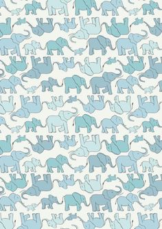Lewis & Irene Welcome to the World Marching Elephant Family Patchwork Quilting Dressmaking Fabric Elephant Family, Baby Elephant, Chester Zoo, Buy Fabric Online, Dressmaking Fabric, Blue Fabric, Cotton Fabric, Nursery Prints