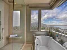 HGTV.com shows you a contemporary bathroom with a walk-in shower and soaker tub.