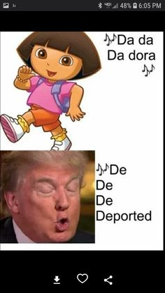 While we might all be suffering, at least we can suffer while laughing by enjoying these thirty-three hilarious memes about Donald Trump. Memes Humor, Funny Memes, Humor Humour, Funny Cute, The Funny, Funny Shit, Funny Stuff, Random Stuff, Dora Memes