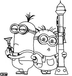 Despicable Me 2 Coloring Page- #kids #coloring #colouring #pages #despicable #me 2 #minions