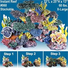 Realistic Looking Artificial Coral Reef Aquarium Decorations For