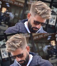 Do you like the hair color? Follow @4hairfashion for more unseen hairstyles ✂✔. Cut by @virogas.barber. #4hairpleasure #sunglasses