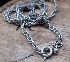 Chain Necklace  Male Chain Thick Antique Silver by NadinNecklaces, $9.20