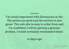 ⭐⭐⭐⭐⭐  Another great review!   #reviews #fivestars #company #opinions #experience #impressed #skingoals #confidence #dermacaredirect #customers #genuine #recommended #advice #service Co Uk, The Verdict, Confidence, Skincare, Advice, Skin Care, Self Confidence, Skin Treatments