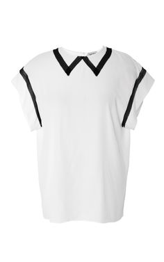 Tamara Shirt In White And Black by No. 21 for Preorder on Moda Operandi