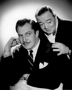 Vincent Price and Peter Lorre were friends in real life. When Peter Lorre died, Vincent read the eulogy at his funeral.   They made three movies together:the Raven,The Comedy Of Terrors and The Tales Of Terror