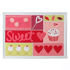 """Valentine's Day """"Sweet"""" Placemat"""