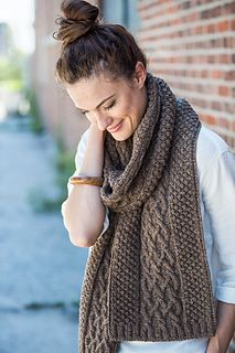 """Tiller"" scarf knitting pattern by Julie Hoover.  Classic pattern for men or women."