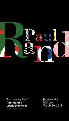 ENGProposal poster for an exhibition of Paul Rand´s typography. Work developed in the academic context of the Master in Editorial Design (IED Madrid University).ESPPropuesta de afiche para exposición sobre la tipografía del diseñador Paul Rand, desarr…